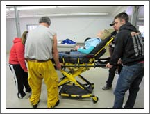EMT gurney training